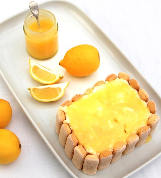 lemon curd sponge torte